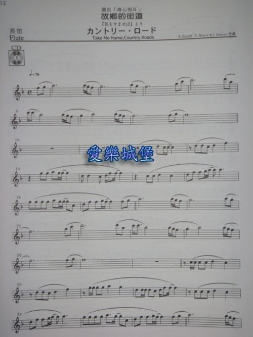 天空之城 长笛 乐谱