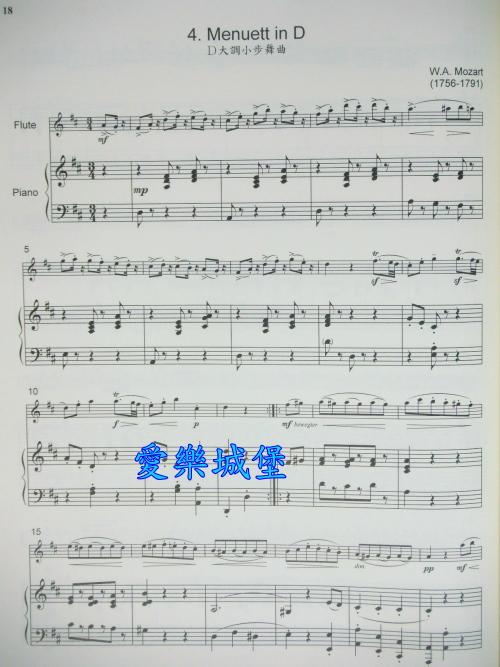 小步舞曲小提琴简谱