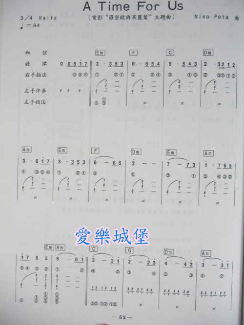 吉他初学者曲谱 旋律优美曲子.初学者适用 简谱
