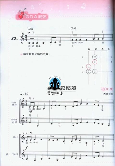 蒲公英约定小提琴谱展示